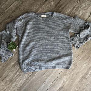 Sweaters - Ruffle Sleeve Sweater